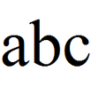 Alphabet Times New Roman.png