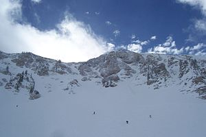 Alta Ski Area - Snowbird ski resort is accessible from Mount Baldy at Alta ski resort