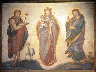 Heilig Hüsli - 16th-century altar fresco, Stadtmuseum Rapperswil