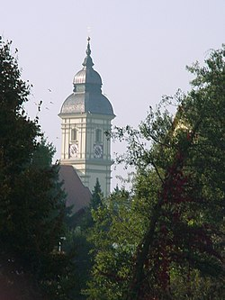The church tower in Altenerding.