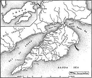 Карта сражения за Амбон