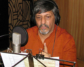 English: Amol Palekar at TeachAIDS recording s...