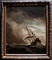 Amsterdam - Rijksmuseum 1885 - The Gallery of Honour (1st Floor) - A Ship on the High Seas Caught by a Squall, Known as 'The Gust' c. 1680 by Willem van de Velde The Younger.jpg