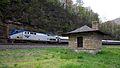"""Amtrak """"Pennsylvanian"""" on Horseshoe Curve (8991394046).jpg"""