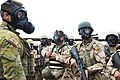 An Australian soldier with Task Group Taji inspects Iraqi soldiers during CRBN training.jpg