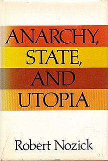 <i>Anarchy, State, and Utopia</i> 1974 book by Robert Nozick