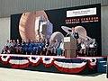 Andrew J. Stofan speaks at the Shuttle-Centaur rollout ceremony.jpg