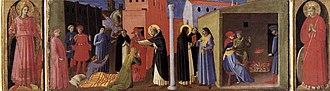 Cortona Triptych - Image: Angelico, cortona poliptych, predella 04
