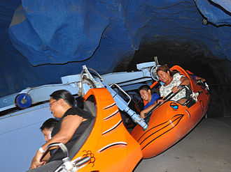 DreamWorks Experience - Avalanche was one of the original rides in Village Green in 1983. It was closed in 2012.