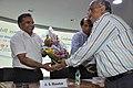 Anil Srikrishna Manekar Receives Flower Bouquet From Shrikant Pathak - CRTL Silver Jubilee Celebration - NCSM - Kolkata 2018-03-13 8357.JPG