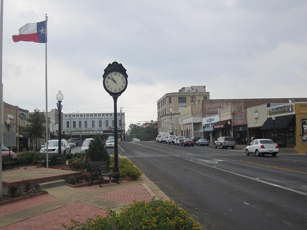 The population density of Henderson in Texas is 439.63 people per square kilometer (1138.87 / sq mi)