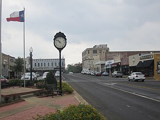 Henderson, Texas - Streetscape of historic downtown Henderson
