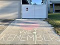 Anzac Day driveway commemorations in Corinda, Queensland due to Social distancing during the COVID-19 pandemic in Australia 01.jpg