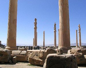 Giosafat Barbaro - Ruins of the Palace of Apadana, Persepolis