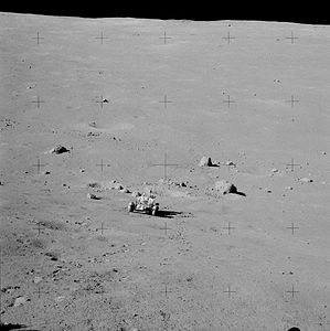 Apollo 17 the Rover and Station 2 boulders AS17-138-21072HR.jpg