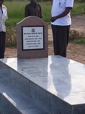 Milton Obote - Milton Obote's grave