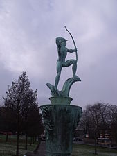 Apollo fountain - Coronation Gardens, Ednam Road, Dudley (5327571957).jpg