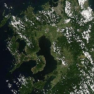 Ariake Sea - A NASA satellite image of the Ariake Sea in 2007