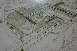 Persecution of Christians in the Roman Empire - Reconstruction of the Roman governor's palace in Aquincum, Hungary