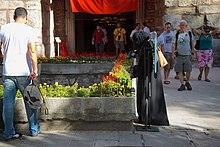 Arab tourist at Hagia Sophia (7924944220).jpg