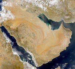 Arabische Halbinsel, Satellitenbild