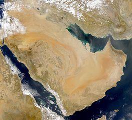 Satellitenfoto der Arabischen Halbinsel