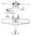 Arado W II 3-view Le Document aéronautique December,1928.png