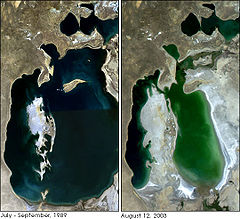Aral Sea - 1989 and 2003