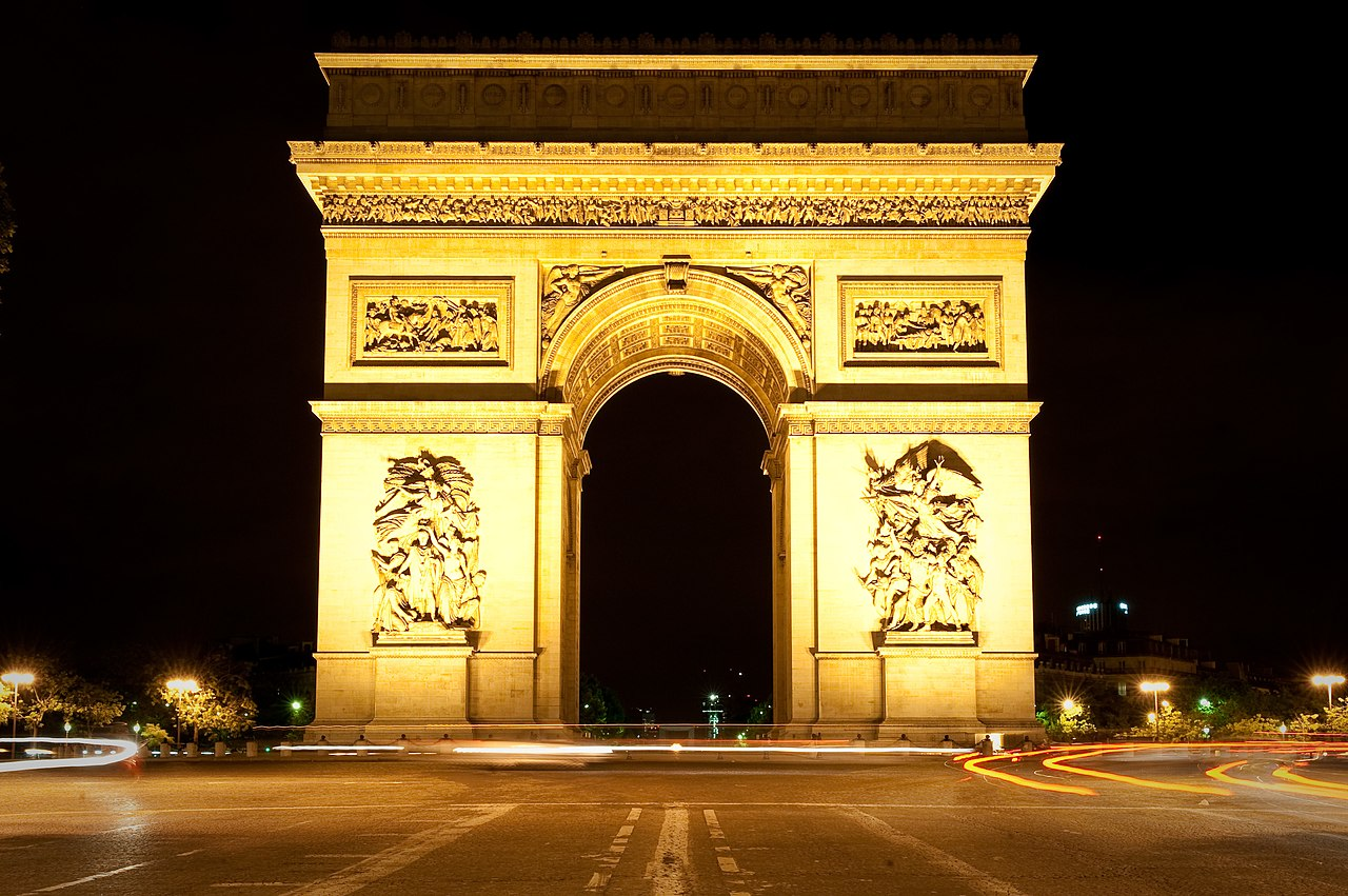 File:Arc De Triomphe At Night