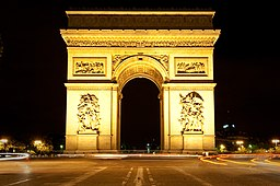 Arc de Triomphe at Night - Paris, FR