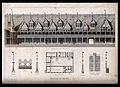Architectural details of the roof of Beaune hospital, includ Wellcome V0012207.jpg