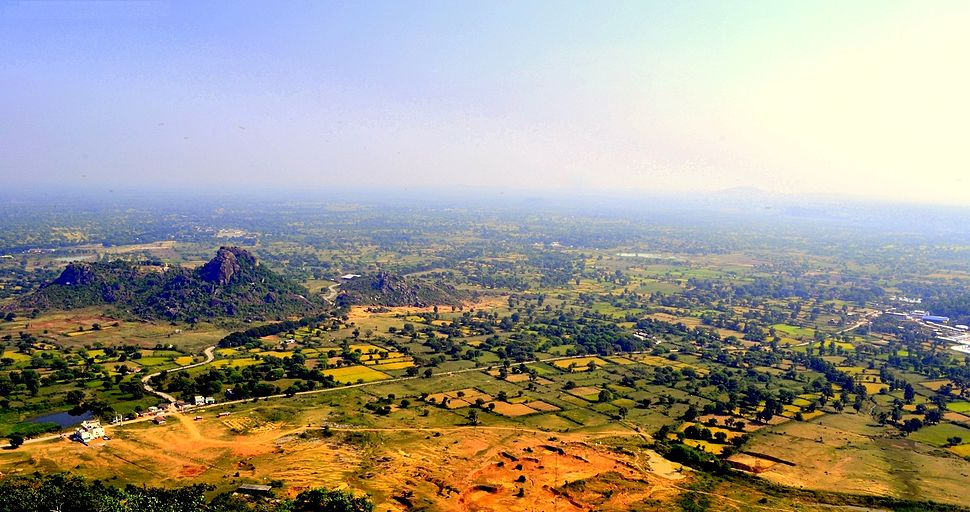 Aerial View of Dongargarh from Maa Bamleshwari Temple on a hilltop