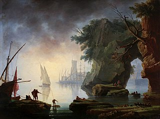 Widok z portu we mgle