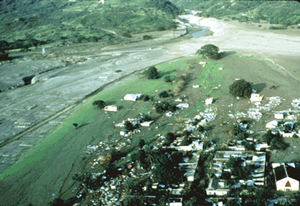 Armero tragedy - Lahars covered the town of Armero. More than 20,000 people died.