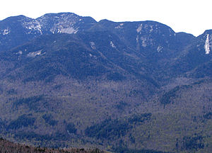 Armstrong Mountain (Keene Valley, New York) - Armstrong (center), Gothics (left) from Noonmark