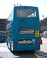 Arriva bus 7421 Volvo Olympian East Lancs E Type M685 HPF in Newcastle 9 May 2009 pic 2.jpg