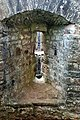 Arrow slot with integral gun muzzle hole, Raglan Castle - geograph.org.uk - 1531749.jpg