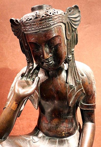 File:Arte giapponese o coreana, bodhisattva, periodo asuka o regno di paekche, bronzo, vii secolo 02.jpg