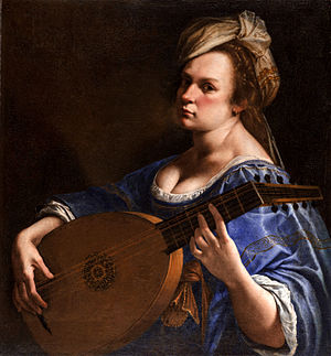 Artemisia Gentileschi -  Self-Portrait as a Lute Player, 1615–17