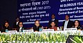 Arun Jaitley and the Minister of State for Finance, Shri Shiv Pratap Shukla at the Diamond Jubilee Celebrations of the Foundation Day of Directorate of Revenue Intelligence (DRI), in New Delhi.jpg