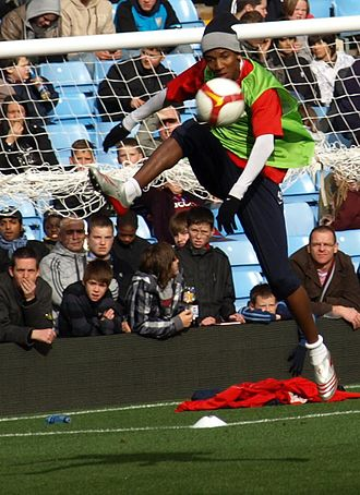 Ashley Young - Young training with Aston Villa in 2009