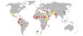 Ass (Equus africanus asinus) Population 2003.png