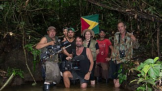 Essequibo River - The Expedition Team at the Source of Sipu River.