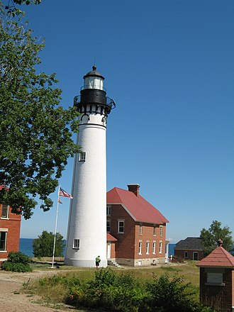 Pictured Rocks National Lakeshore - Au Sable Light, built in 1874 after numerous shipwrecks
