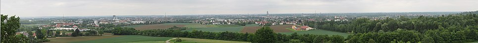 View of Augsburg, from the west