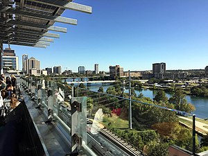 Austin Public Library - View from Central Library rooftop garden.