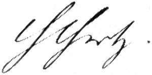 Unterschrift von Heinrich Hertz