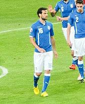 Parolo, nel 2015, con la maglia della nazionale italiana nella partita di qualificazione a Euro 2016 contro l'Azerbaigian