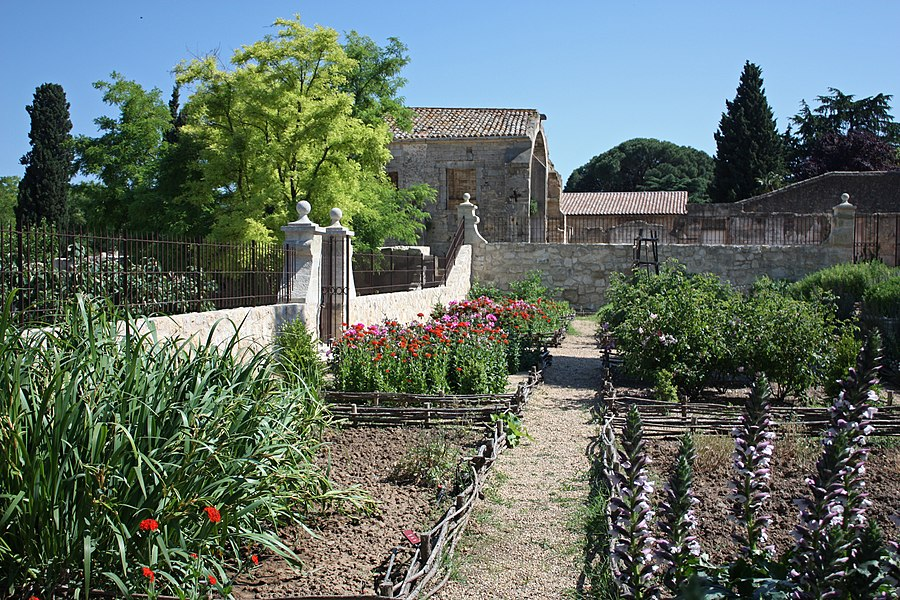 English:  The Garden of Mary, square of ornamental plants for the altars' decoration in churches.