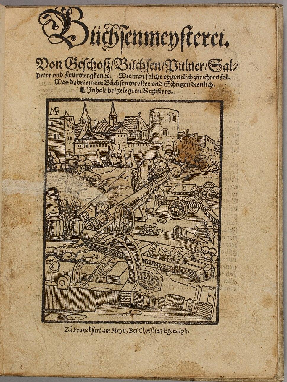 Büchsenmeysterei 1531 CHF